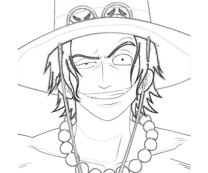 One Piece Portgas D Ace Portrait How Coloring