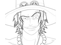 Ace One Piece Coloring Pages