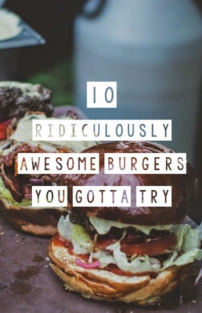 What's a burger? A meat patty, two buns, some veggies and maybe some cheese and bacon, right? Well, sure but that's pretty boring compared to these ten ridiculously awesome burgers I found on the interwebs today. Dig it... AND BEHOLDETH! National Hamburger Day, May 28th.