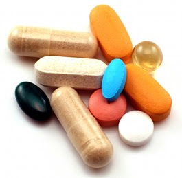 Vitamins and minerals for eye health.