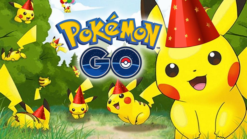 festa de aniversario pokemon go : Evento Anivers?rio 21 Anos Pok?mon com Pikachu Chap?u de ...