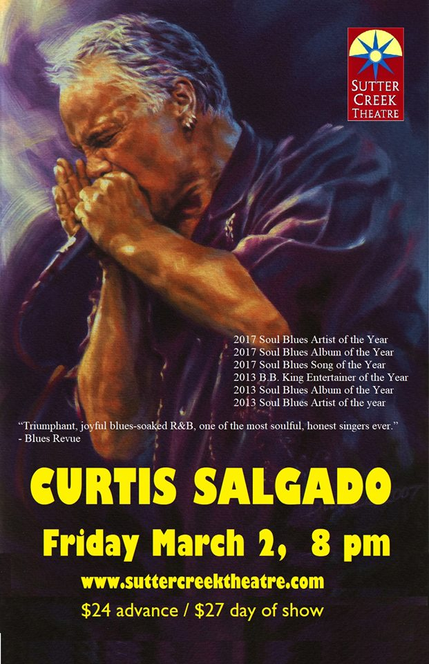 Sutter Creek Theater: Curtis Salgado - Fri Mar 2