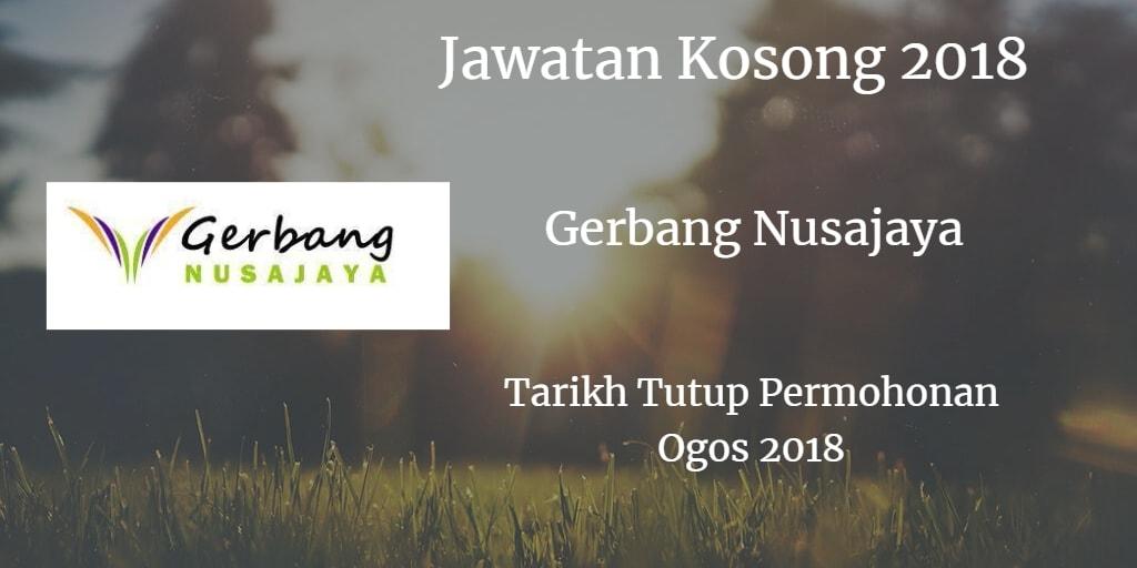 Jawatan Kosong Gerbang Nusajaya Ogos 2018