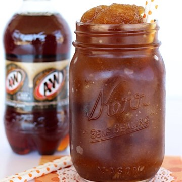 Incredible Root Beer Slushie Recipe! {2 ingredients!} #freshdrink #A&W