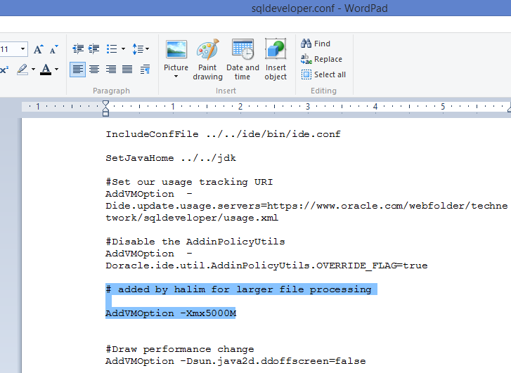 Halimdba: GC overhead limit exceeded in Oracle SQL Developer while