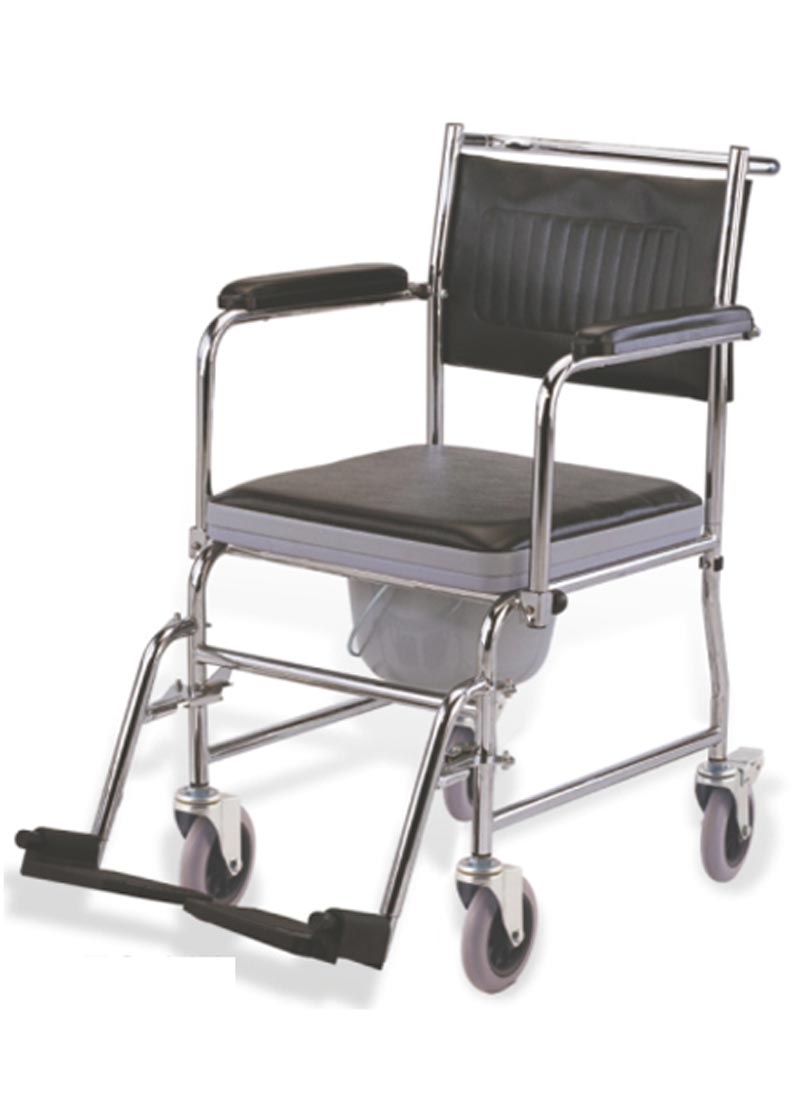Bathroom Commode Chair For Elderly People Wheelchair
