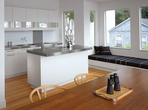 Desain ruang makan dan dapur rumah minimalis