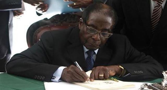 Zimbabwe president Robert Mugabe Resigned