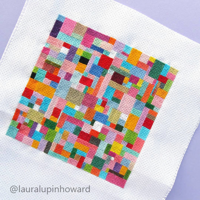 scrappy cross stitch project by Laura Lupin Howard as featured on Feeling Stitchy