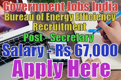 Bureau of Energy Efficiency BEE Recruitment 2017