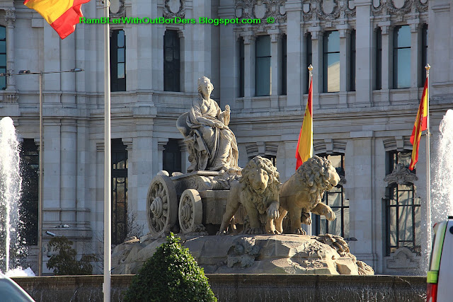 Cibele Fountain, Calle de Alcala, Madrid, Spain