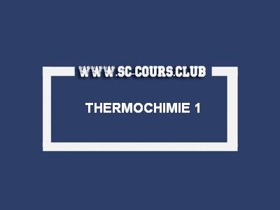 Résumé du Thermochimie PDF | SMP/SMC S1
