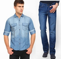 Men's Denim – Flat 40% to 65% Off + Extra 25% Off + 20% Freecharge Cashback at Jabong