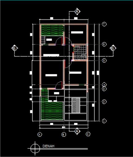Arsitektur Rumah: CONTOH GAMBAR : DENAH RUMAH TYPE 40