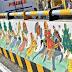 नीमकाथाना- रेलवे पुलिया पर सौंदर्यीकरण के लिए पांच शैलियों में की गई चित्रकारी