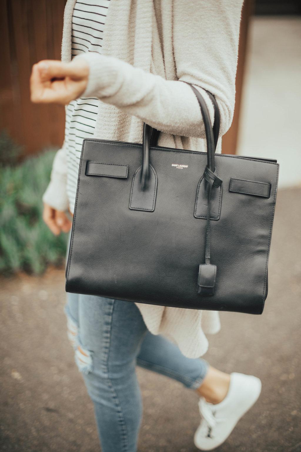 navy saint laurent bag