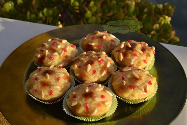 Cupcakes de coca de San Juan