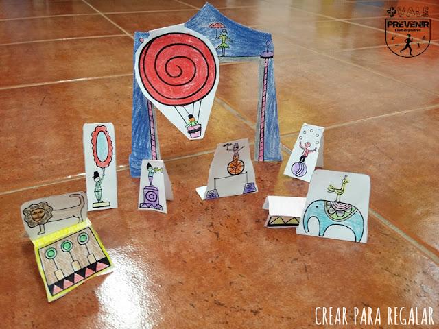 manualidades niños circo papel