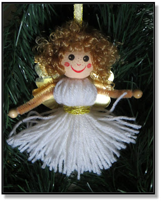 Weihnachtsengel aus Wolle