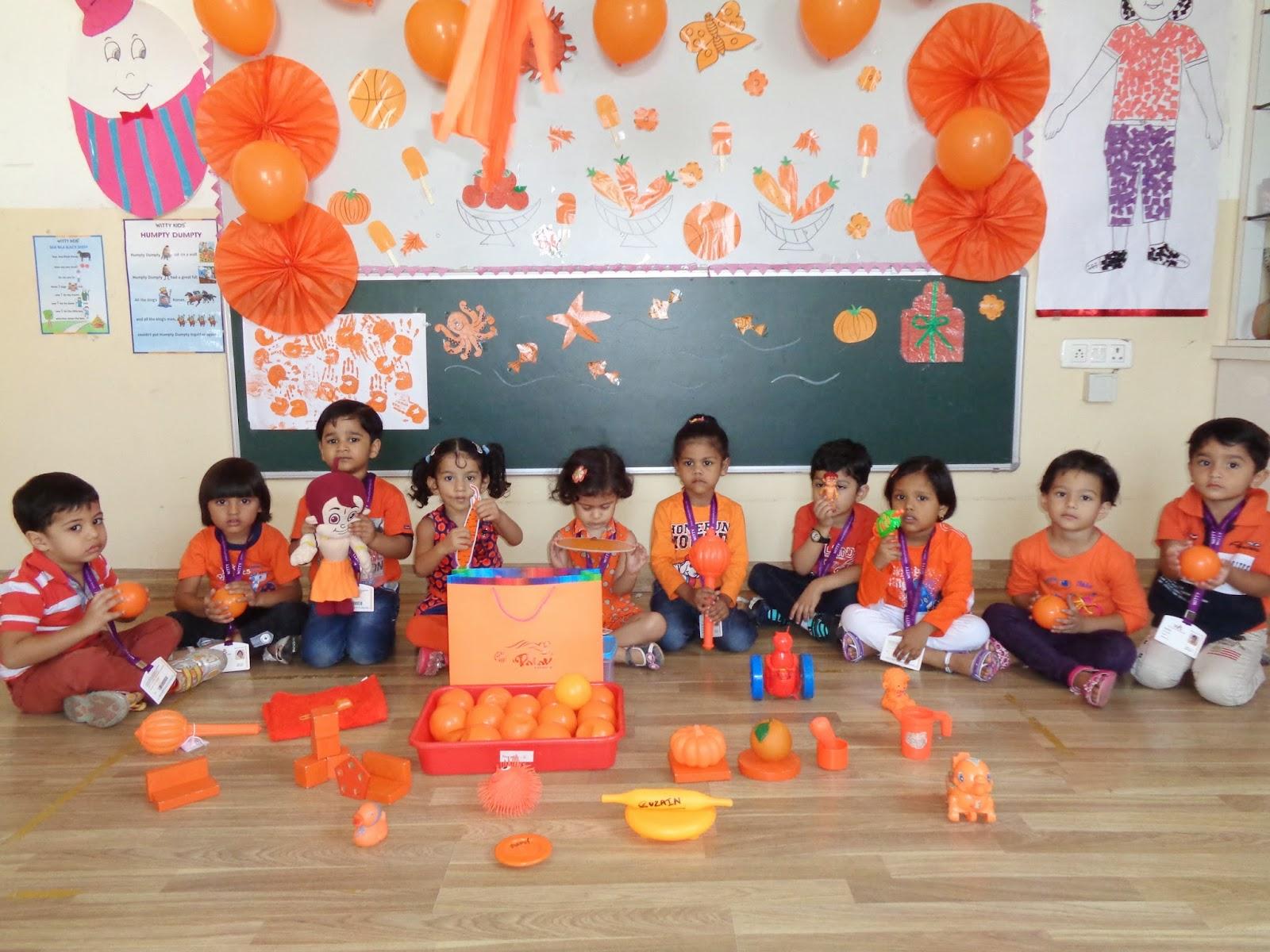 On The Top Of The World Celebrated Orange Colour Day Nursery Wis Bhilwara 30 09