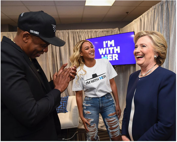 #ImWithHer: Beyoncé & Jay Z make it Clear they're Voting for Hillary Clinton!