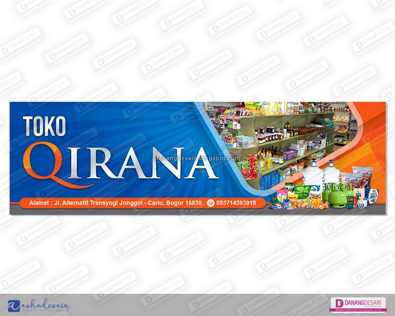 Contoh Desain Spanduk Toko Sembako | jasa desain grafis online