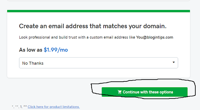 Purchase domain Name With Go Daddy screenshot 2