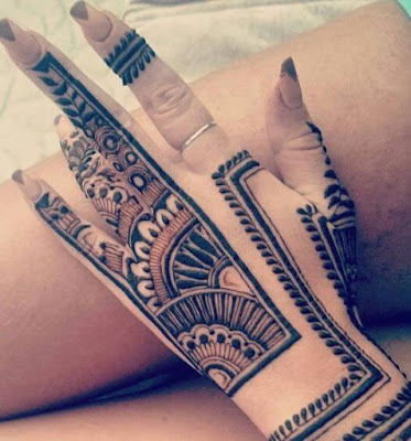 latest mehndi designs for left hand
