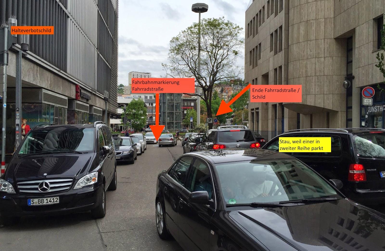 Radfahren in Stuttgart: Autofahrer versetzt Radler einen Kopfstoß