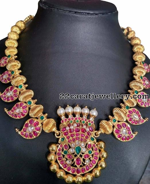 Mango Necklace with Naga Pendant