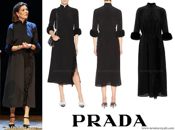 Princess Caroline wore PRADA Silk Dress