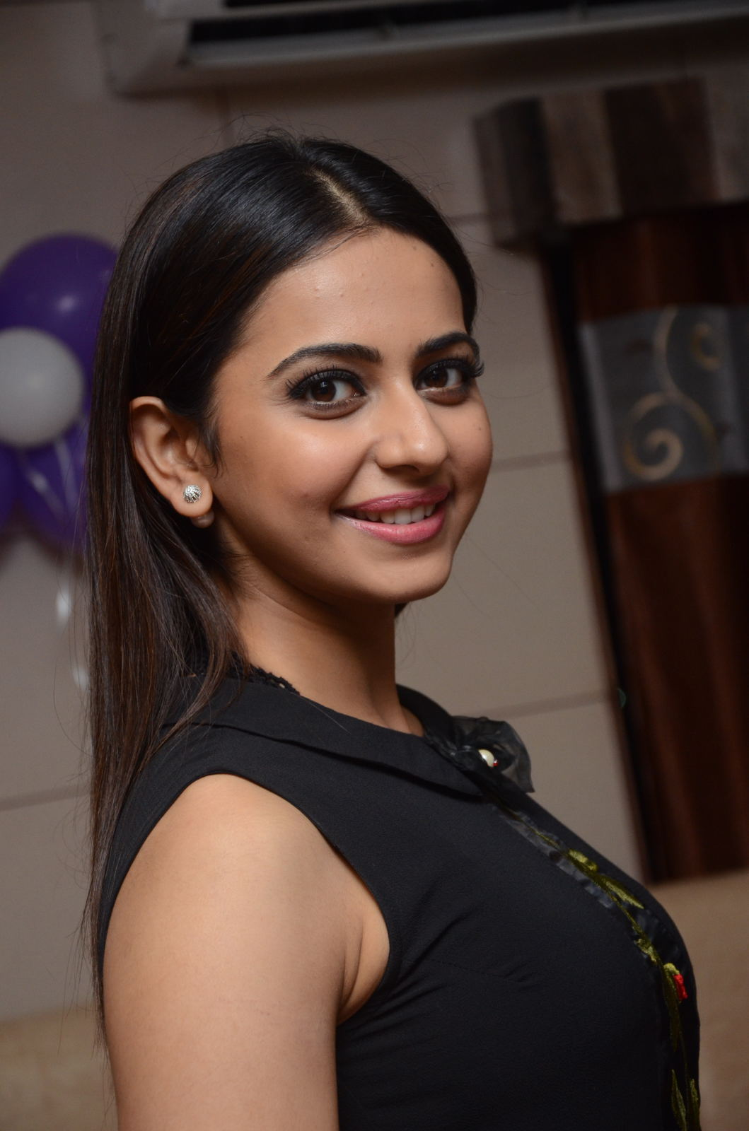 Rakul Preet Stills In Black Dress