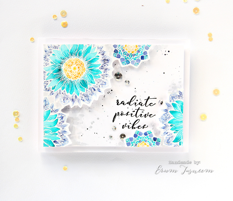 Spellbinders Sunflower Cool Vibes Stamp Set from the Cool Vibes Collection by Stephanie Low | Erum Tasneem | @pr0digy0