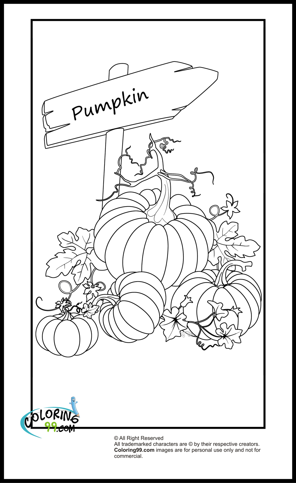 Pumpkin Coloring Pages Minister