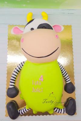 tort w kształcie maskotki