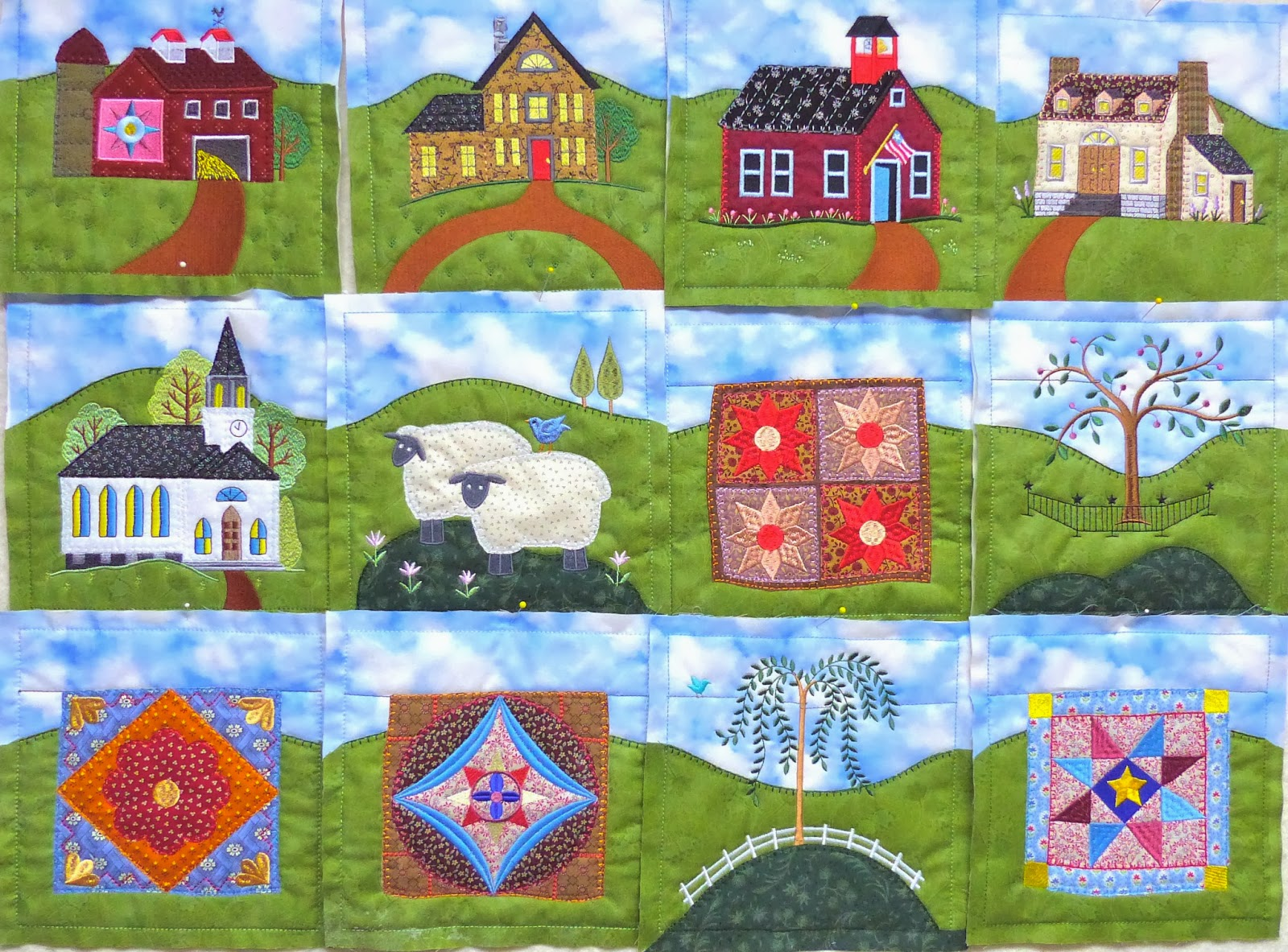 Timber Hill Threads 12 Anita Goodesign Homestead Quilt Blocks