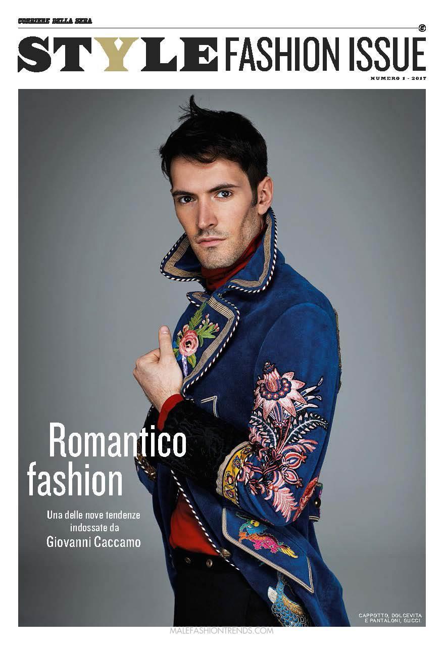 Giovanni Caccamo para Style Fashion Issue de Corriere della Sera