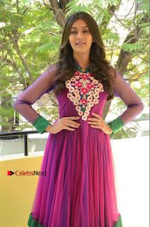 Actress Pooja Jhaveri Latest Stills in Purple Salwar Kameezt at Dwaraka Success Meet  0038.JPG