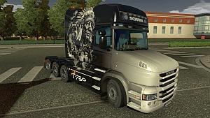 Scania T Longline Indian Black skin mod
