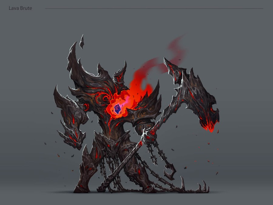darksiders 3 concept art lava brute
