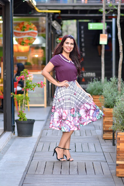 Saia Midi e Blusas Bordadas com Lara Valentina e Com Amor Vestuario