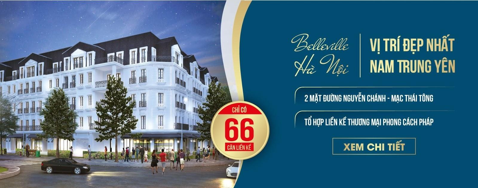 Mở bán biệt thự liền kề dự án Belleville Hà Nội