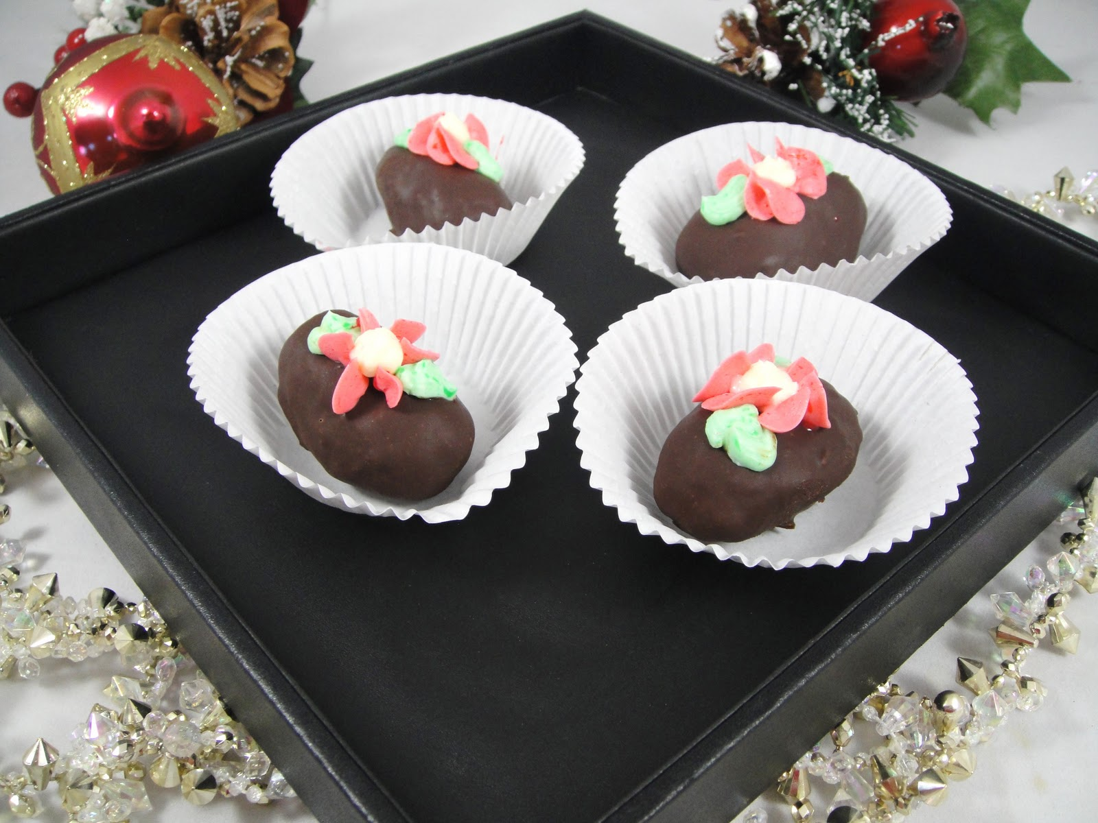 These Are Cake And Cream Rolled Into Small Potato Shape Cakes Then Dipped In Chocolate Coating Two Bites Per Make Them The Perfect Mini Dessert