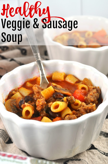 Healthy sausage and vegetable soup