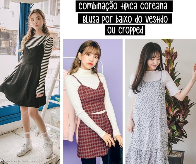 Moda Coreana: vestido sobre camisa