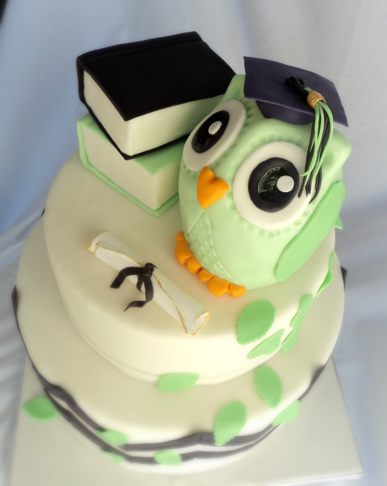 Delectable Cakes Cute Owl Graduation Cake