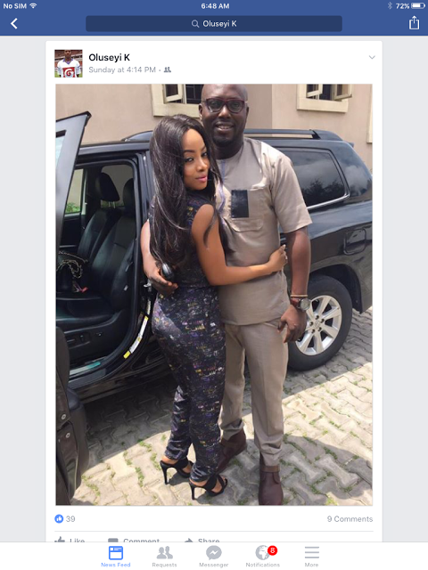 Toke Makinwa and her new boyfriend Oluseyi