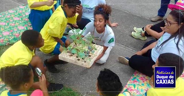 """Ação """"Unidos para ajudar!"""" promove atividades para alunos do CIEP Municipalizado 227 Ferreira em Caxias"""