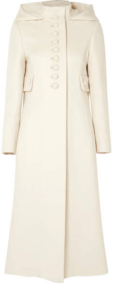 Gucci - Hooded Wool Coat – Ivory