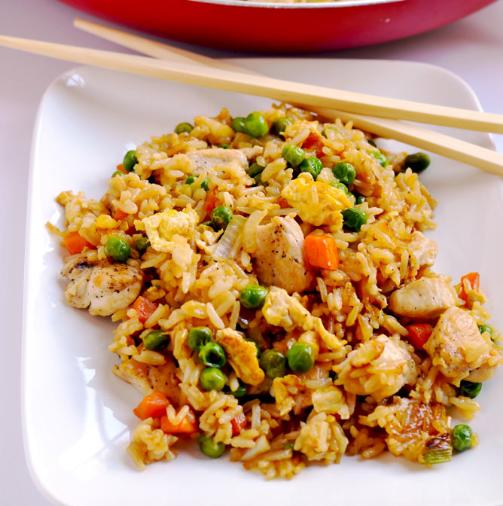 Chicken Fried Rice #dinner #rice